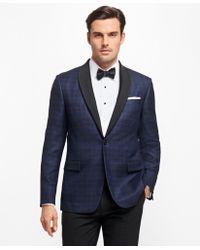 Brooks Brothers - Regent Fit Plaid Tuxedo Jacket - Lyst