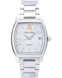Brooks Brothers - Rectangular Watch With Stainless Steel Band - Lyst