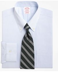 Brooks Brothers - Non-iron Traditional Fit Mini Pinstripe Dress Shirt - Lyst