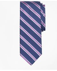Brooks Brothers - Textured Ground Framed Stripe Tie - Lyst