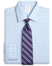 Brooks Brothers - Madison Classic-fit Dress Shirt, Non-iron Glen Plaid Overcheck - Lyst