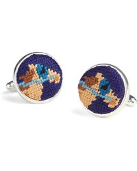 Brooks Brothers - Needlepoint Horse Cuff Links - Lyst