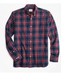 686a49e2e64c J.Crew Thomas Mason Flannel Shirt In Stewart Plaid in Black for Men ...