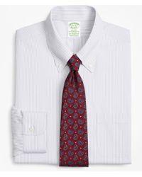 Brooks Brothers - Stretch Milano Slim-fit Dress Shirt, Non-iron Tonal Framed Stripe - Lyst