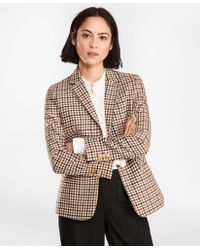 Brooks Brothers - Checked Wool Twill Jacket - Lyst