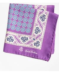Brooks Brothers - Paisley And Circle Link Pocket Square - Lyst