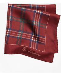 Brooks Brothers - Signature Tartan Pocket Square - Lyst