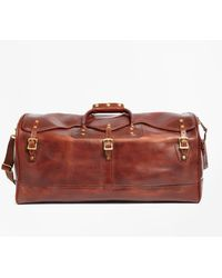 Brooks Brothers - J.w. Hulme Leather Medium Duffel Bag - Lyst