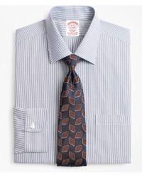 Brooks Brothers - Stretch Madison Classic-fit Dress Shirt, Non-iron Narrow Ground Stripe - Lyst
