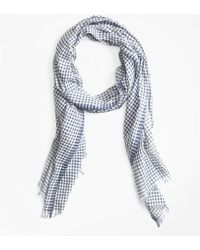 Brooks Brothers - Gingham Cotton Gauze Scarf - Lyst