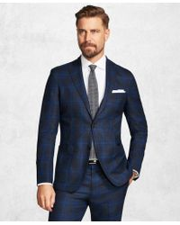 Brooks Brothers - Golden Fleece® Brookscloudtm Blue Plaid Suit - Lyst