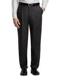 Brooks Brothers - Madison Fit Pleat-front Flannel Trousers - Lyst