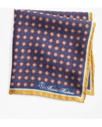 Brooks Brothers - Medallion Pocket Square - Lyst