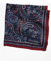Brooks Brothers - Paisley And Dot Pocket Square - Lyst
