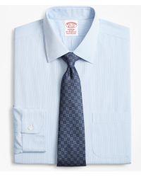 Brooks Brothers - Stretch Madison Classic-fit Dress Shirt, Non-iron Narrow Pindot Stripe - Lyst