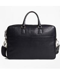 Brooks Brothers - Pebble Leather Briefcase - Lyst