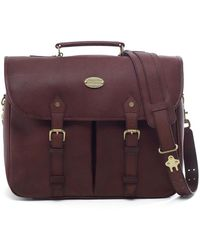 Brooks Brothers - Football Leather Briefcase - Lyst
