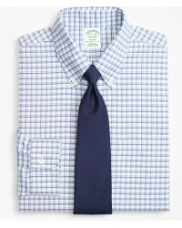 Brooks Brothers - Brookscool® Milano Slim-fit Dress Shirt, Non-iron Sidewheeler Windowpane - Lyst