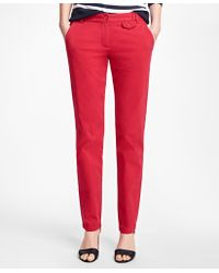 Brooks Brothers - Stretch-cotton Twill Pants - Lyst