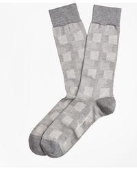 Brooks Brothers - Patchwork Plaid Crew Socks - Lyst