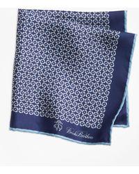 Brooks Brothers - Flower Medallion Pocket Square - Lyst
