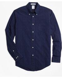 Brooks Brothers - Regent Fit Indigo Stripe Dobby Sport Shirt - Lyst