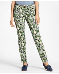 Brooks Brothers - Slim-fit Floral-print Jeans - Lyst