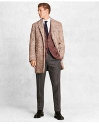 Brooks Brothers - Golden Fleece® Merino Wool Brokenbone Topcoat - Lyst