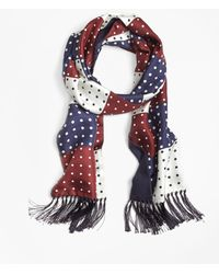 Brooks Brothers - Polka Dot Patchwork Scarf - Lyst