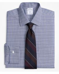 Brooks Brothers - Stretch Regent Fitted Dress Shirt, Non-iron Glen Plaid - Lyst