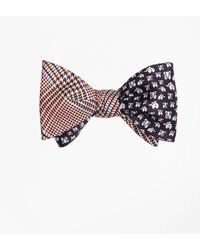 Brooks Brothers - Plaid With Elephant Motif Reversible Bow Tie - Lyst