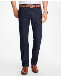 Brooks Brothers | Supima® Stretch Denim Straight Fit Jeans | Lyst