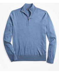 Brooks Brothers - Brookstechtm Merino Wool Half-zip Sweater - Lyst