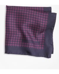 Brooks Brothers - Houndstooth Pocket Square - Lyst