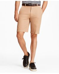 "Brooks Brothers - Garment-dyed 10"" Bermuda Shorts - Lyst"