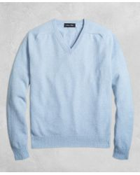 Brooks Brothers - Golden Fleece® 3-d Knit Cashmere V-neck Sweater - Lyst