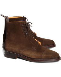 Brooks Brothers - Peal & Co.® Derby Boots - Lyst