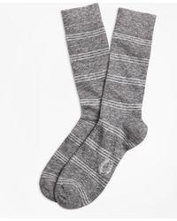 Brooks Brothers - Marled Tri-stripe Cotton-wool-blend Socks - Lyst