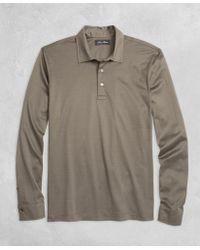 Brooks Brothers | Golden Fleece® Pique Knit Long-sleeve Polo Shirt | Lyst