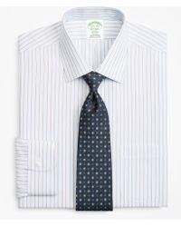 Brooks Brothers - Milano Slim-fit Dress Shirt, Non-iron Hairline Alternating Stripe - Lyst