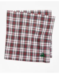 Brooks Brothers - Dress Stewart Tartan Pocket Square - Lyst