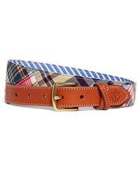 Brooks Brothers - Kiel James Patrick Patchwork Madras Belt - Lyst