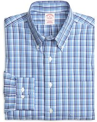 Brooks Brothers - Supima® Cotton Slim Fit Non-iron Tonal Check Sport Shirt - Lyst