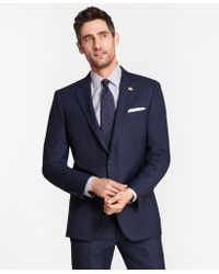 Brooks Brothers - Madison Fit Blue Windowpane 1818 Suit - Lyst