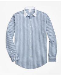 Brooks Brothers - Regent Fit Heathered Stripe Sport Shirt - Lyst
