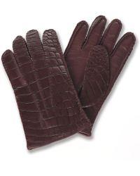 Brooks Brothers - Alligator Gloves - Lyst
