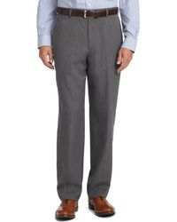Brooks Brothers - Madison Fit Plain-front Unfinished Gabardine Trousers - Lyst