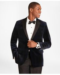 Brooks Brothers - Slim Fit Black Watch Velvet Tuxedo Jacket - Lyst
