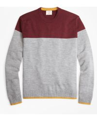 Brooks Brothers - Color-block Merino Wool Sweater - Lyst