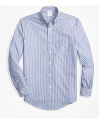 Brooks Brothers - Non-iron Regent Fit Triple-stripe Sport Shirt - Lyst